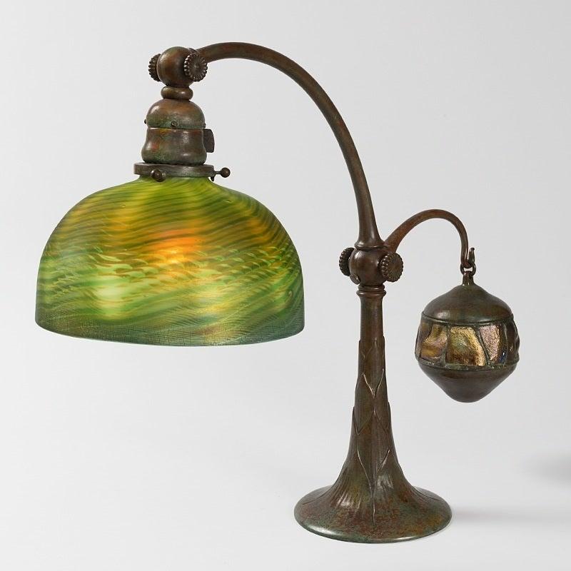 "Tiffany Studios New York ""Counter Balance"" Desk Lamp 2"