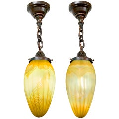 "Tiffany Studios New York Pair of ""Stalactite"" Chandeliers"