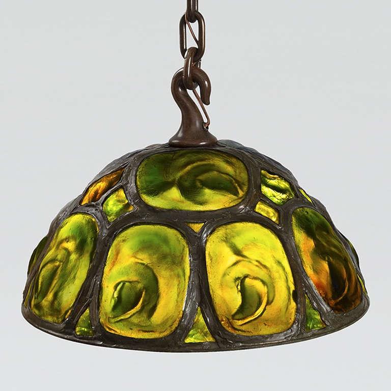 Tiffany Studios Green Opalescent Quot Turtleback Quot Tile