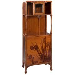 Louis Majorelle French Art Nouveau Marquetry Cabinet