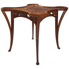 Camille Gauthier Marquetry Games Table