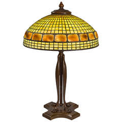 "Tiffany Studios ""Turtleback Tile"" Table Lamp"
