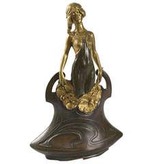 Charles Korschann French Art Nouveau Bronze Vase