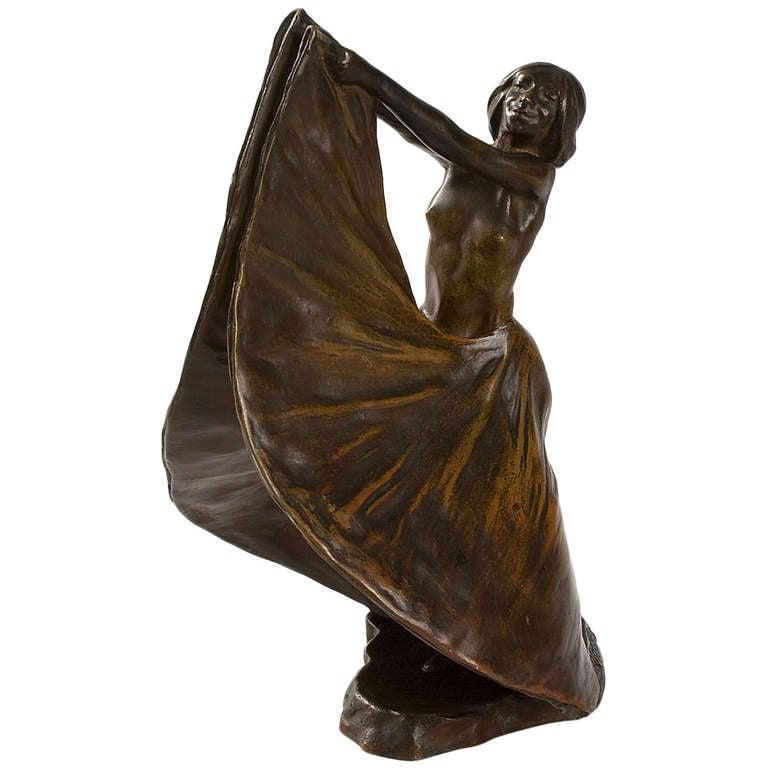 rupert carabin french art nouveau bronze sculpture at 1stdibs. Black Bedroom Furniture Sets. Home Design Ideas