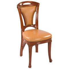 Eugène Vallin French Art Nouveau Side Chairs