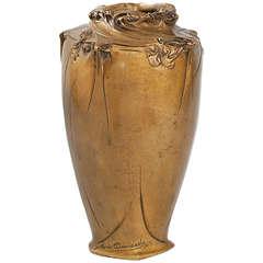 Hector Guimard Art Nouveau Bronze Vase