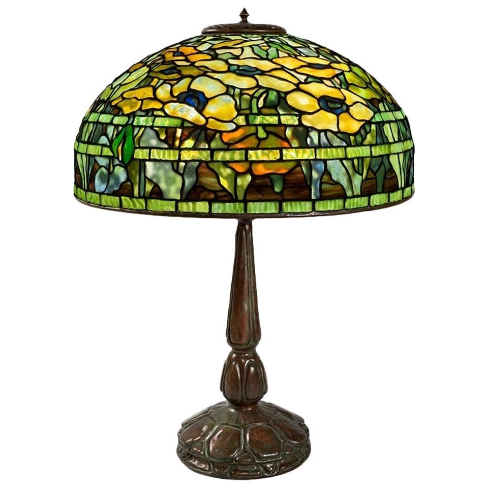 "Tiffany Studios ""Oriental Poppy"" Table Lamp at 1stdibs"