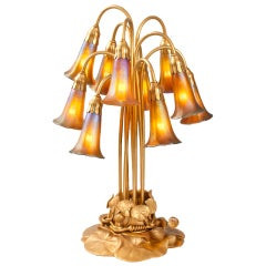 "Tiffany Studios ""Ten-Light Lily"" Table Lamp"