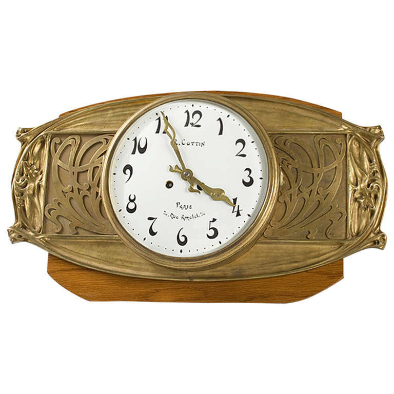 Wall Clock Art Nouveau : Hector guimard french art nouveau bronze wall clock at stdibs