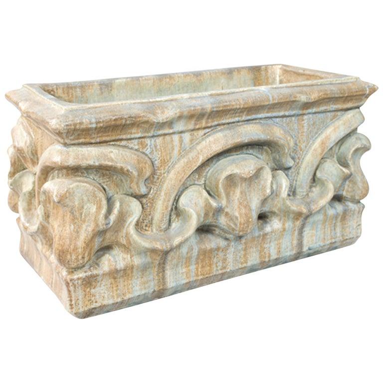 Bigot French Art Nouveau Ceramic Planter For Sale