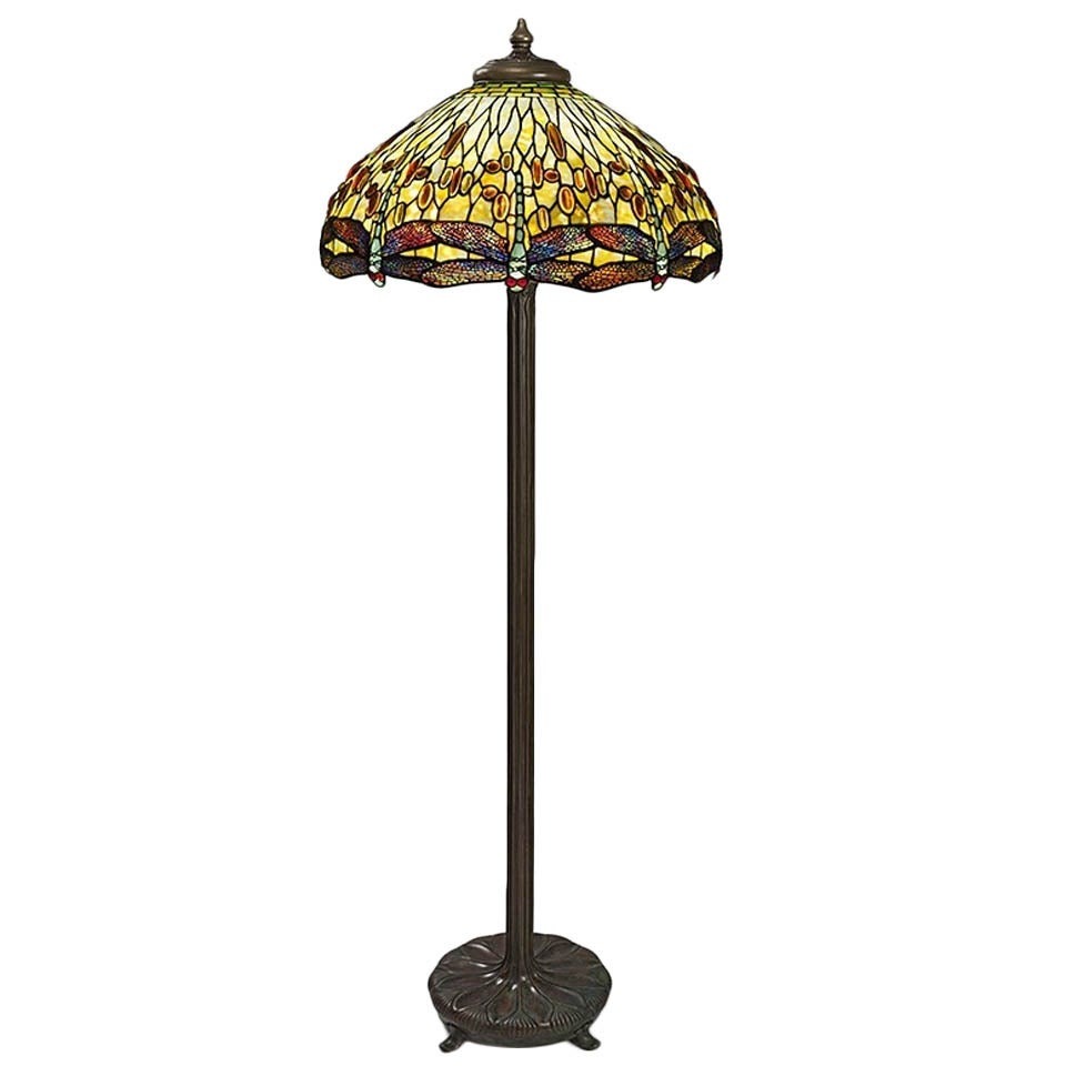 Tiffany Studios Drophead Dragonfly Floor Lamp At 1stdibs