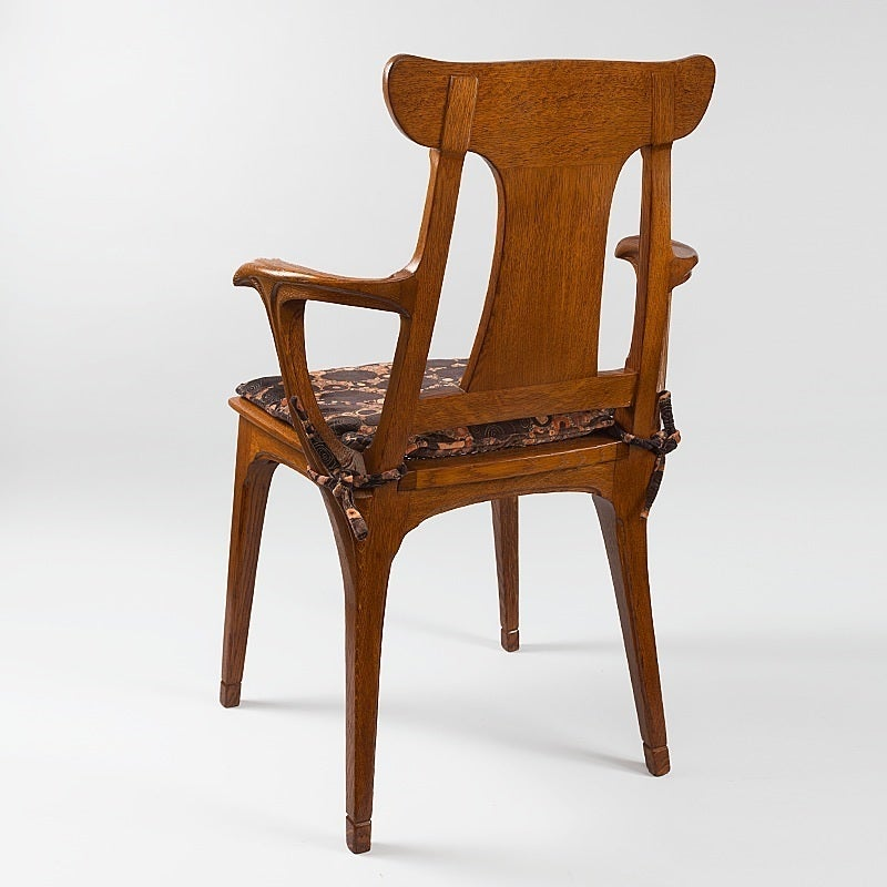 Gaillard France  city photos gallery : Eugène Gaillard French Art Nouveau Armchair For Sale at 1stdibs
