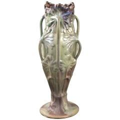 """Bussière French Art Nouveau """"Ombellifère"""" Ceramic Vase"""