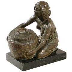 Gurschner French Art Nouveau Bronze Sculpture