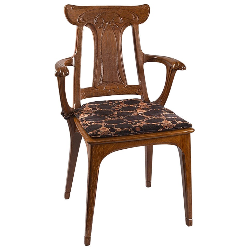 Eug 232 Ne Gaillard French Art Nouveau Armchair For Sale At