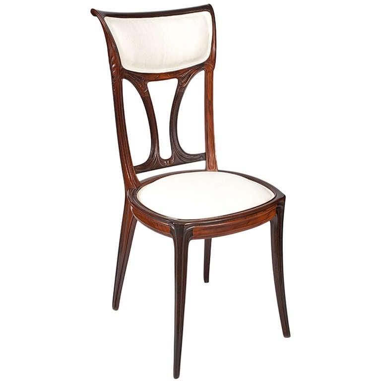 Eug Ne Gaillard French Art Nouveau Side Chair At 1stdibs