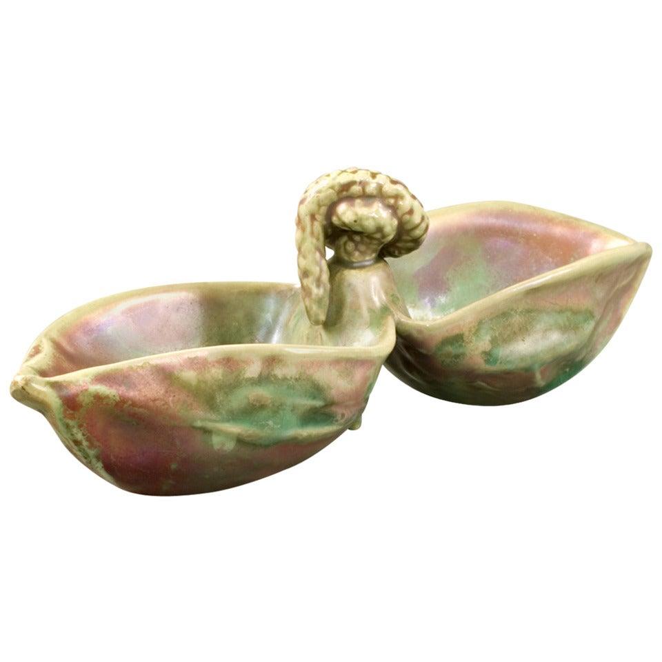 Bussière French Art Nouveau Ceramic Vide-Poche
