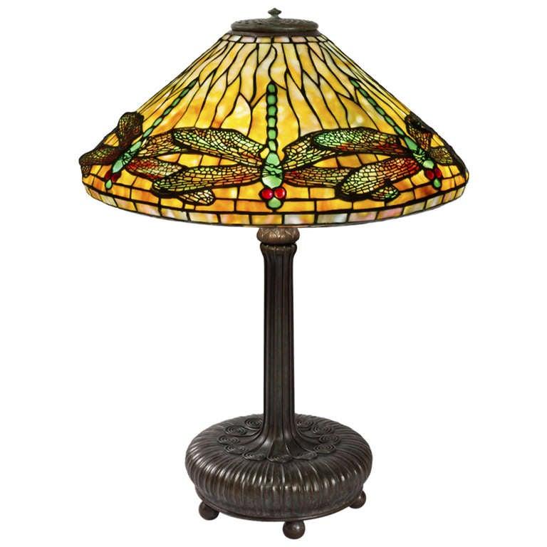 Tiffany Studios Quot Dragonfly Quot Table Lamp At 1stdibs