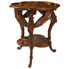 "Emile Gallé French Art Nouveau ""Dragonfly"" Table"