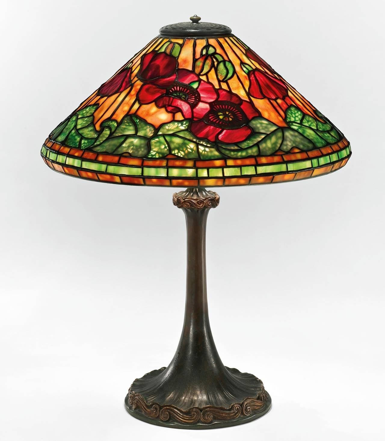 "Tiffany Studios New York ""Wire Mesh Poppy"" Table Lamp at 1stdibs"