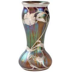 Loetz Jugendstil Silver Overlay Vase