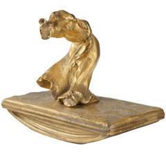 Alexandre Clerget French Art Nouveau, Gilt Bronze Rocker Blotter