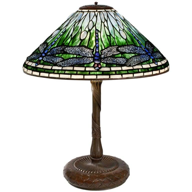 tiffany studios dragonfly lamp for sale at 1stdibs. Black Bedroom Furniture Sets. Home Design Ideas