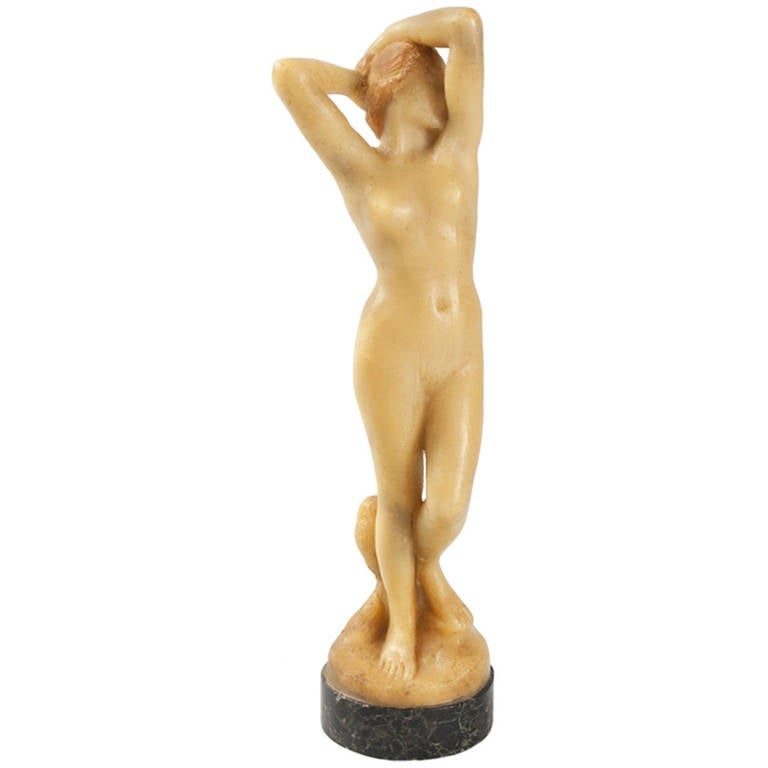 Vernbet French Art Nouveau Wax Sculpture