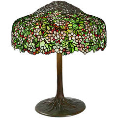 "Tiffany Studios ""Cherry Blossom"" Lamp"
