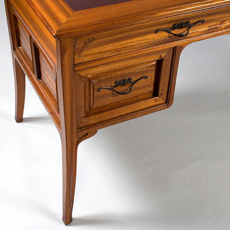 Tony Selmersheim French Art Nouveau Desk In Excellent Condition In New York, NY