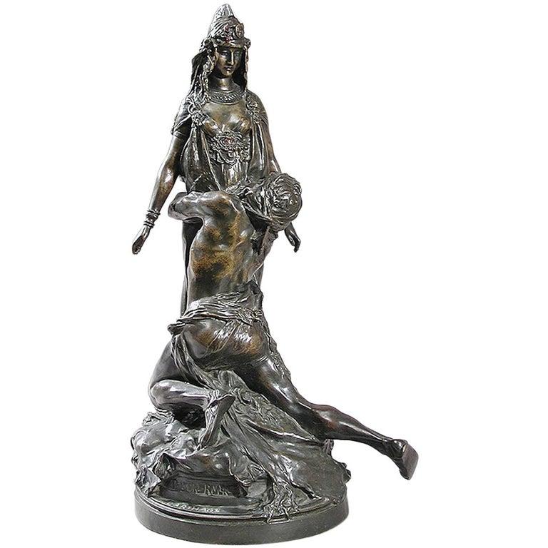 Théodore Rivière French Art Nouveau Bronze Sculpture For Sale