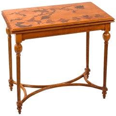 Emile Gallé French Art Nouveau Games Table