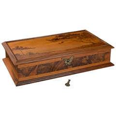 Emile Gallé Art Nouveau Box with Marquetry Decoration