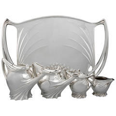 Paul Follot French Art Nouveau Silver Tea Service