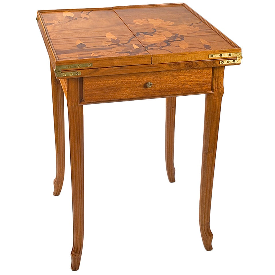 Emile Gallé French Art Nouveau Games Table For Sale At 1stdibs