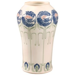 De Feure French Art Nouveau Ceramic Vase