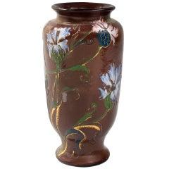 Burgun & Schverer French Art Nouveau Cameo Glass Vase