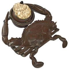 Tiffany Studios Crab Inkwell