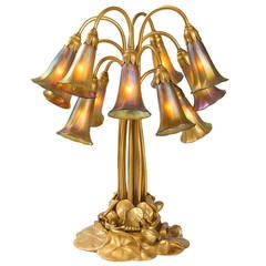 "Tiffany Studios ""Twelve-Light Lily"" Table Lamp"