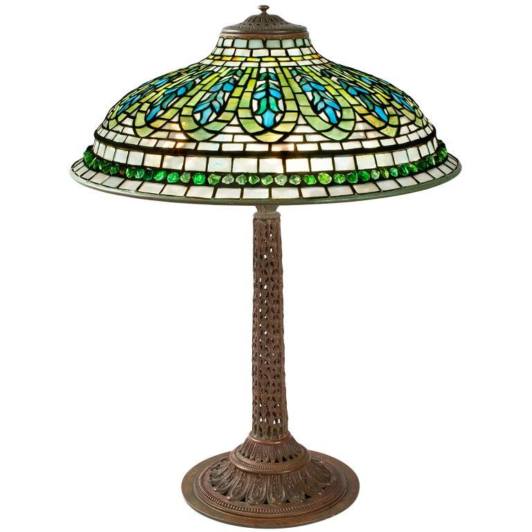 Tiffany Studios Gentian Lamp