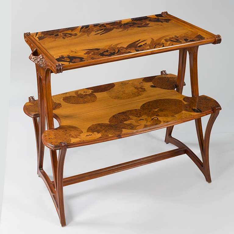 Wooden Tea Tables ~ Louis majorelle french art nouveau wooden tea table at stdibs