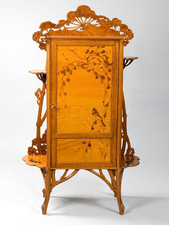 French art nouveau japonisme cabinet by emile gall at 1stdibs - Meuble art nouveau ...