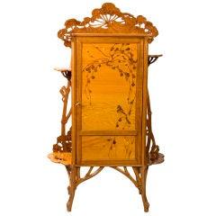 """French Art Nouveau """"Japonisme"""" Cabinet by Emile Gallé"""