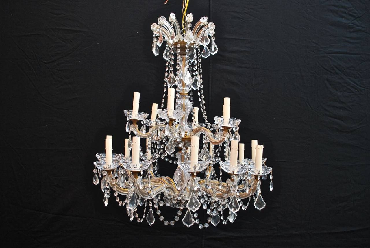 Large crystal chandelier maria theresa style at 1stdibs american large crystal chandelier maria theresa style for sale aloadofball Image collections