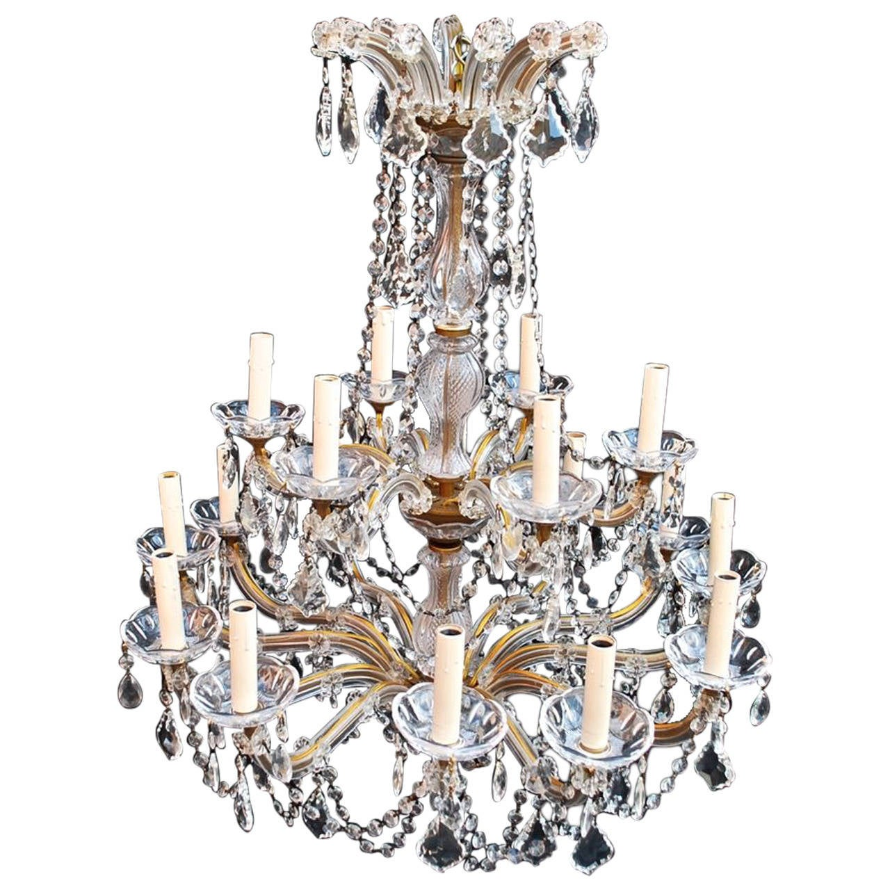 Large crystal chandelier maria theresa style for sale at 1stdibs large crystal chandelier maria theresa style 1 arubaitofo Choice Image