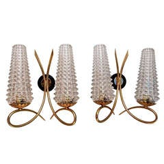 Pair of Antiques French mid century sconces