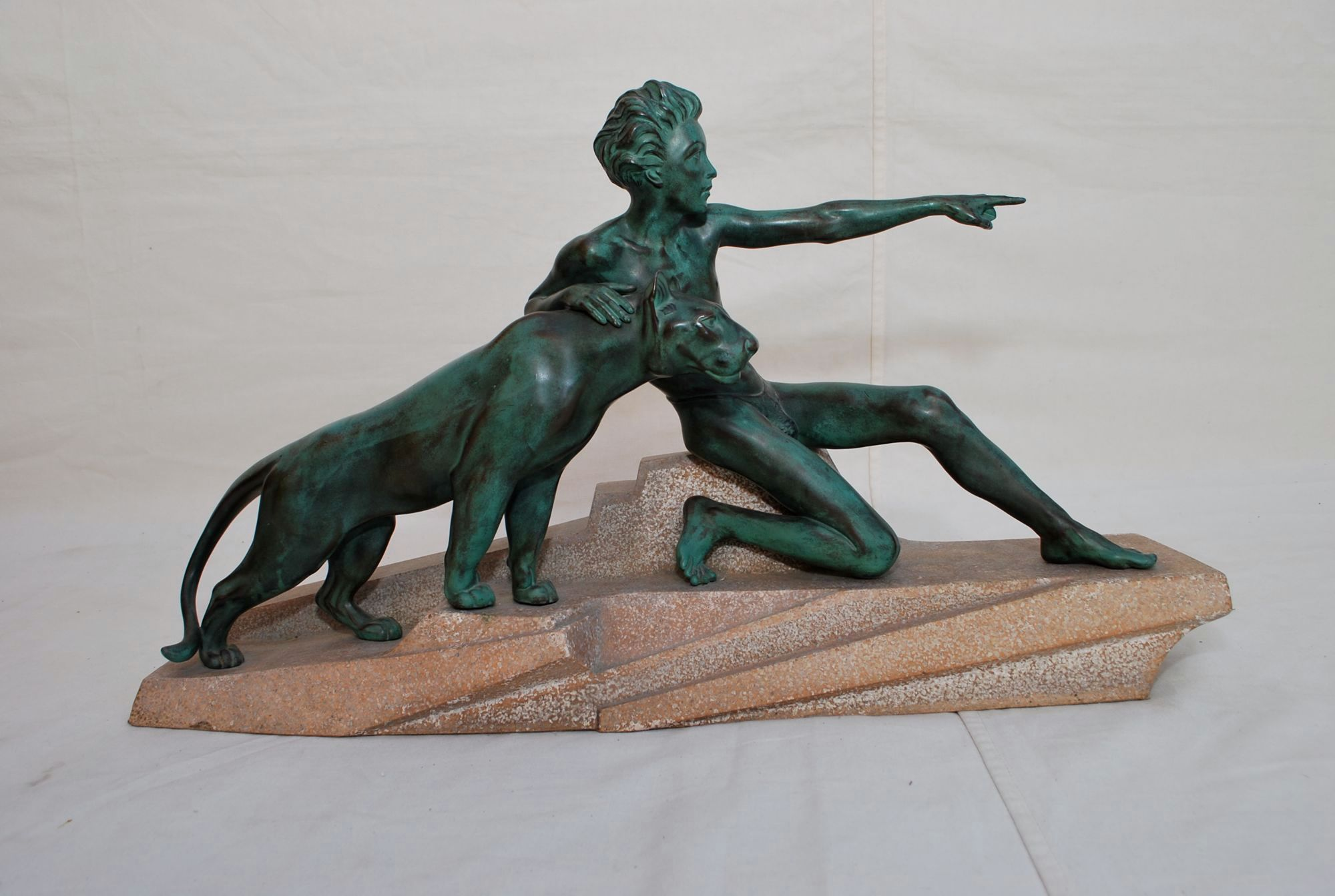 French  1930 Art Deco Bronze By Max Le Verrier
