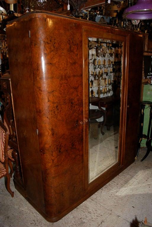large antique French Art Deco armoire at 1stdibs -> Deco Armoire Métallique Vintage