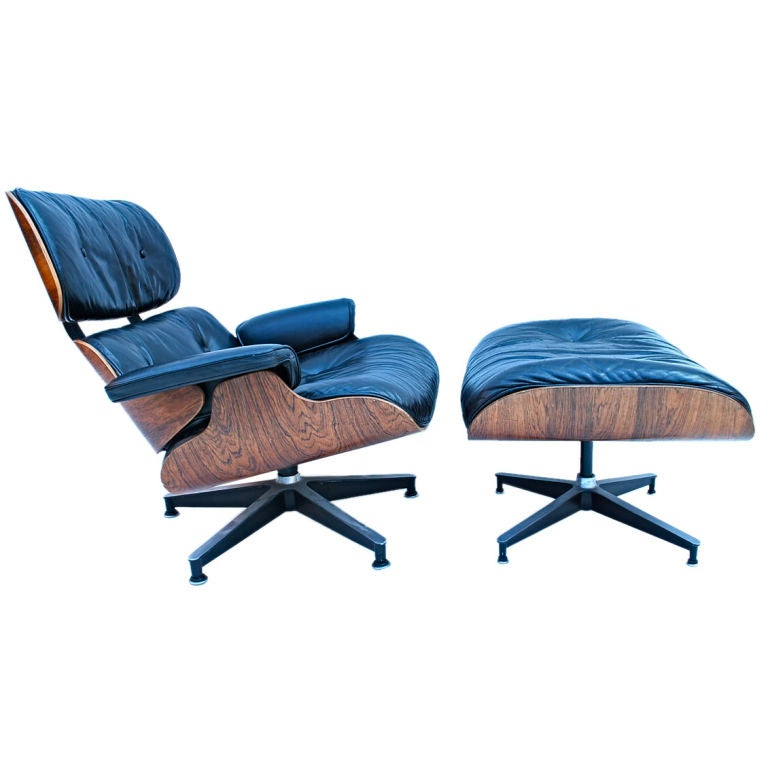 1960 charles eames 670 chair and ottoman at 1stdibs