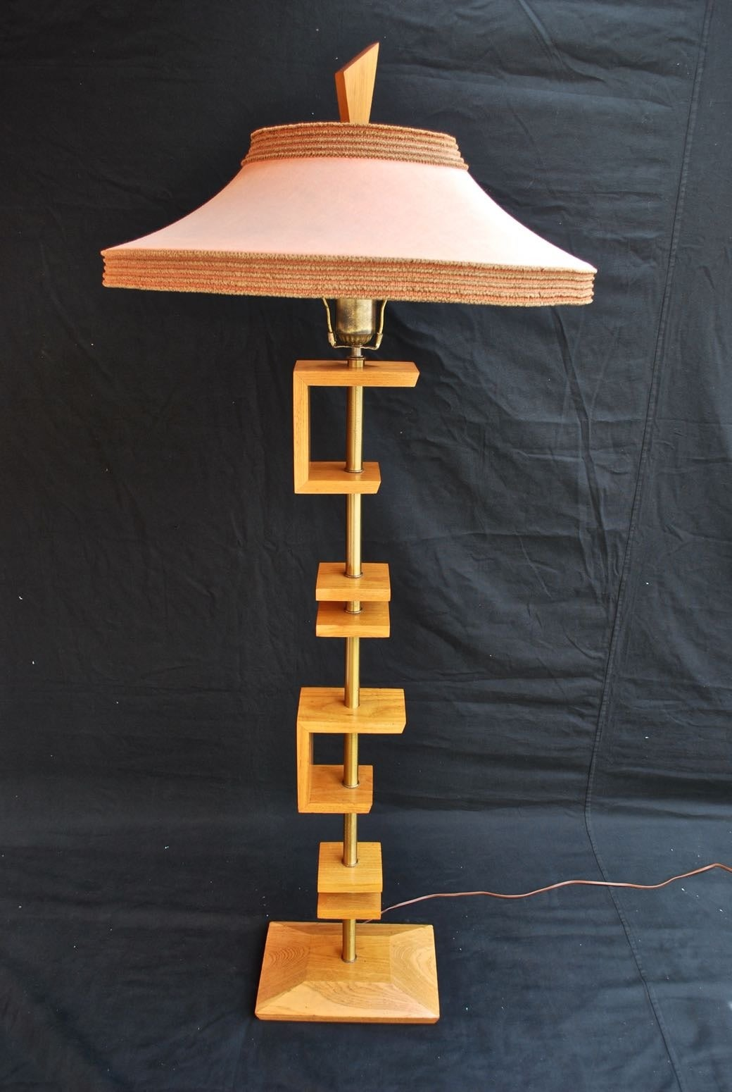 Mid-Century Modern Beautiful Pair of Table Lamps by James Mont with Original Shade For Sale